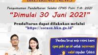 Breaking News :  Besok 30 Juni 2021 Penerimaan CPNS Polri 2021 Dibuka